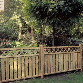 Grenen hekken en poorten