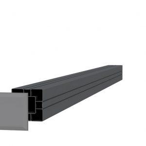 Aluminium paal antraciet
