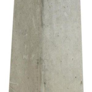 Betonpoer grijs met verzinkte plaat en vastgelaste moer