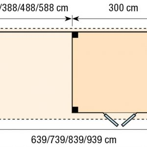 Topvision Blokhut Bonte Specht met luifel 4m