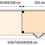 Topvision Blokhut Koekoek met luifel 3m
