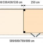 Topvision Blokhut Kolibri met luifel 4m