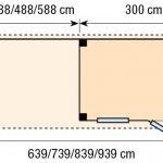 Topvision Blokhut Korhoen met luifel 3m