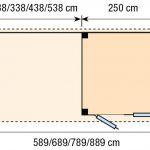 Topvision Blokhut Kuifmees met luifel 3m