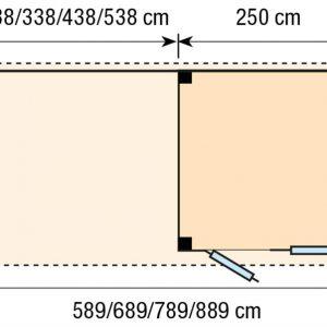 Topvision Blokhut Kuifmees met luifel 6m