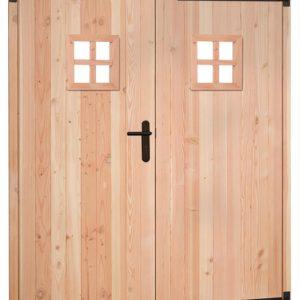 Douglas dubbele deur met zwart beslag