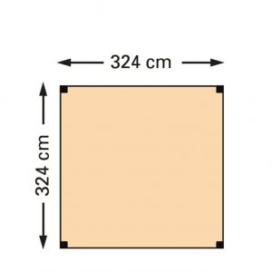 Schaduwpergola douglas houtpakket 324 x 324 cm