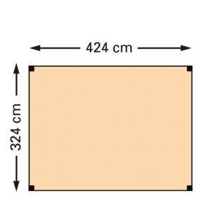 Schaduwpergola douglas houtpakket 324 x 424 cm