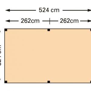 Schaduwpergola douglas houtpakket 324 x 524 cm