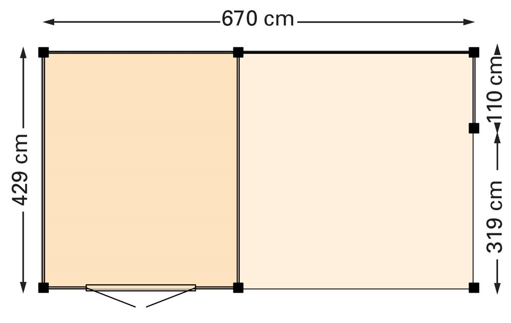 Douglasvision Wolfskap Kapschuur 670 x 429 cm