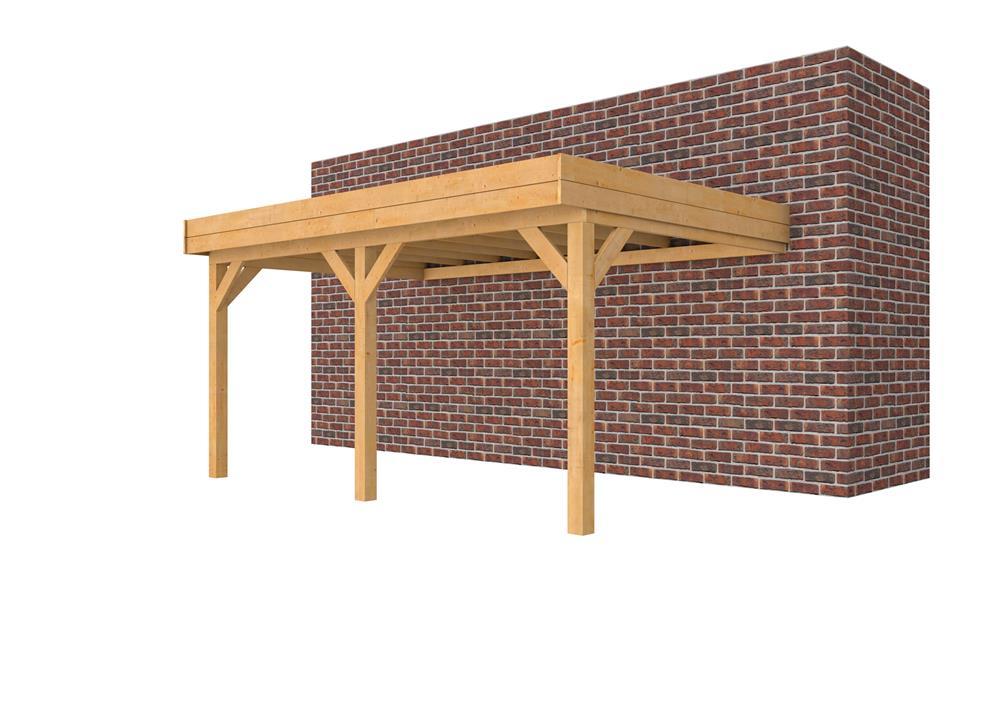 Douglasvision muuraanbouw carport 505 x 334 cm