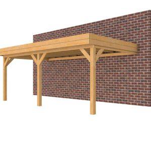 Douglasvision muuraanbouw carport 605 x 334 cm