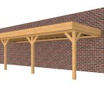 Douglasvision muuraanbouw carport 897 x 334 cm