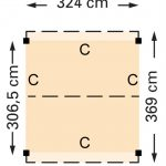 Douglasvision zadeldak 324 x 369 cm