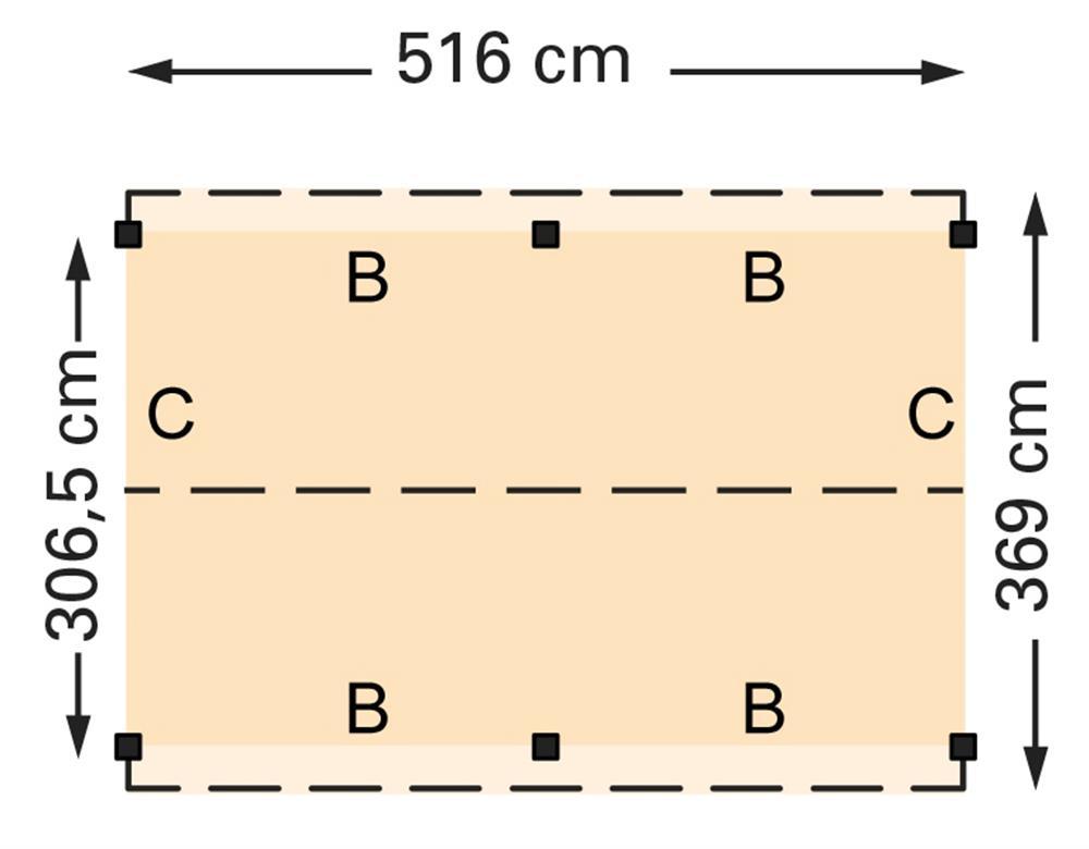 Douglasvision zadeldak 516 x 369 cm