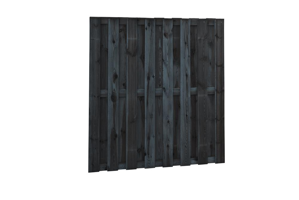 Zwarte grenen schermen