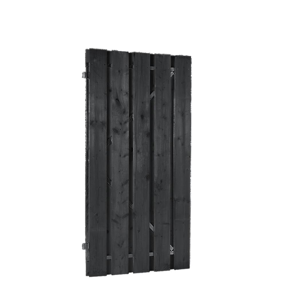 Zwarte grenen deuren op verstelbaar stalen frame