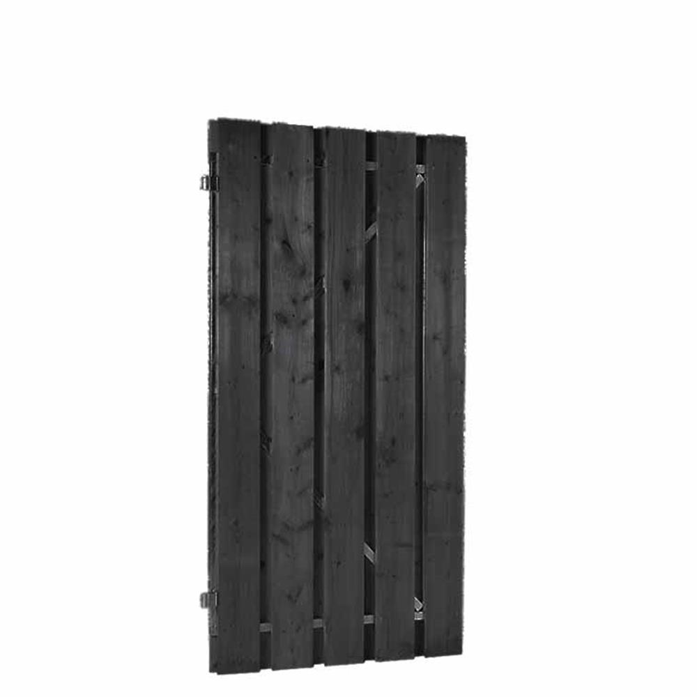 Grenen deur op verstelbaar stalen frame