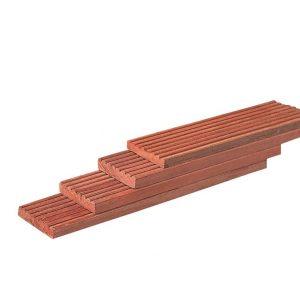 Terrasplanken hardhout geprofileerd 25 mm