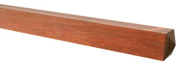 Hardhouten geschaafde palen met diamantkop 12 x 12 cm