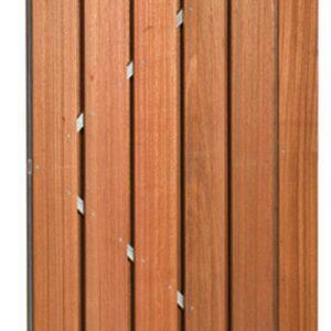 Hardhouten deur op verstelbaar stalen frame