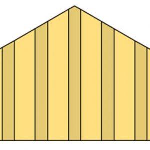 Topgevel t.b.v. Zadeldak Prestige 400 cm