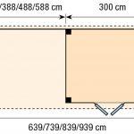 Topvision Blokhut Bonte Specht met luifel 6m