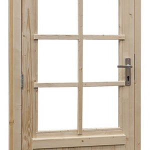 Vuren enkele glasdeur 8-ruits