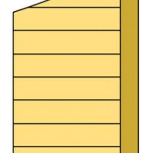 Zijwand I met enkelzijdig Zweeds rabat 83 x 194 / 229 cm