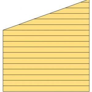 Zijwand K met enkelzijdig Zweeds rabat 278