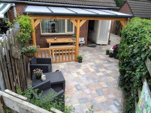 Polycarbonaat veranda